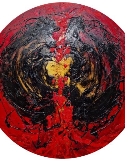 Walbert-Perez-Oleo-sobre-tela-Magma-120-diametro